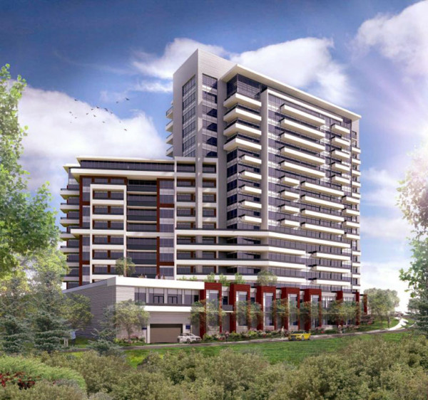 The Humber Condos - Exterior Rendering