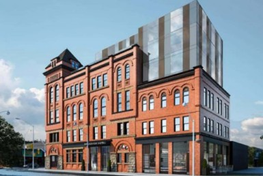 Broadview Hotel Condo - Exterior Rendering